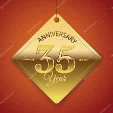 anniversary poster template 35 years anniversary poster template tag design vector stock