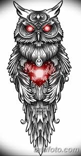 эскизы тату сова мужские 09032019 001 Tattoo Sketches