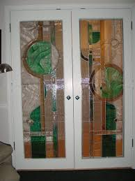 custom made stained glass french door design and fabrication