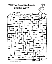 Maze games and Kid channel mazes - Help the bunny find his way ...