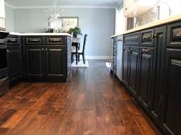 Kitchen And Dining Room Flooring White Kitchen With Dark Hardwood Flooring Perfect Home Design