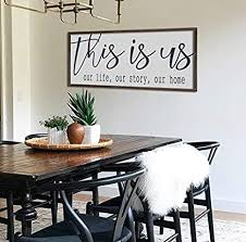 Freedom dining tables combine function, style and durability. Amazon Com N A Farmhouse Decor Wall Decor This Is Us Sign Dining Room Wall Art Large Wood Sign Farmhouse Sign Large Living Room Decor Home Kitchen