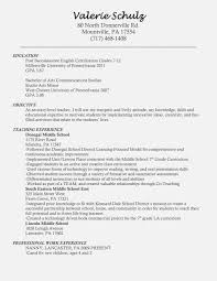 Entry Level Elementary Teacher Resume Invest Wight With