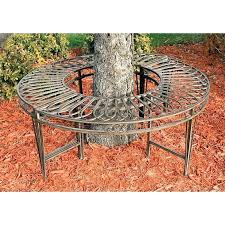 hayneedle outdoor furniture benches design roundabout steel tree bench cushions wicker hayneedle outdoor