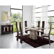 sahara marble dining table with 6 chairs