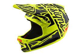 Troy Lee Design Troy Lee Designs D3 Fiberlite Factory Helmet Neon Yellow