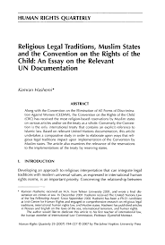 religious legal traditions muslim states and the convention on  what is