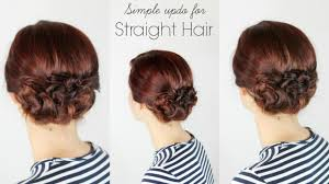 Hair Style For Straight Hair simple updo for straight hair youtube 8078 by wearticles.com