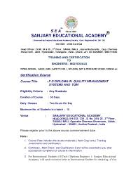 pg diploma in qms and tqm sanjary educational academy governed by sanjary educational academy society govt