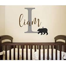 wall decal woodland nursery decor