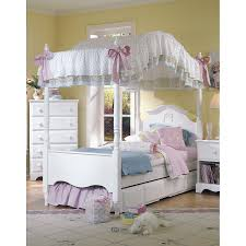 Stylish Twin Canopy Bed Frame — Ccrcroselawn Design