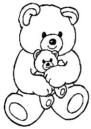 Tranh tô màu con gấu