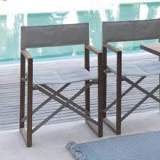 outdoor director chair. Mahogany Outdoor Folding Director Chair And Textilene Bridge R