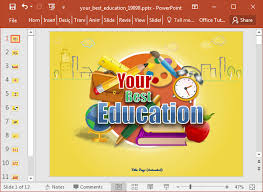Powerpoint Backgrounds Educational Animated Education Template For Powerpoint