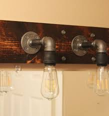 industrial design lighting fixtures. DIY Industrial Bathroom Light Fixtures Design Lighting
