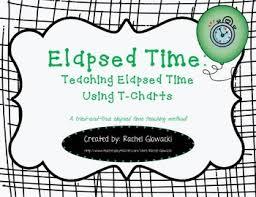 T Chart For Teaching Elapsed Time Elapsed Time Teaching Elapsed Time Using T Charts