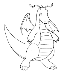 Pokemon Dragonite Coloring Pages Get Coloring Pages