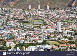 cape town city bowl towards the north stock image