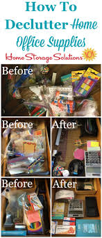storage home office. How To Declutter Home Office Supplies, With Instructions And Before After Photos From Readers Storage