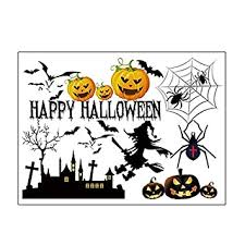 DealMux <b>Halloween Pumpkin Witch</b> Moon Bat <b>Pattern</b> Wall Sticker ...