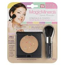 magicminerals by jerome alexander 2pc kit mineral powder pact with mirror blending