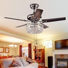 home and furniture amazing ceiling fan with crystal chandelier light kit on attractive beautiful 15
