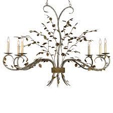 boca leaf branch organic style 6 light chandelier