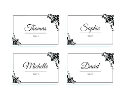 Place Card Printable Template Dinner Place Card Template Brianstull Me