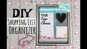 Grocery Shopping List Organizer Diy Shopping List Fridge Organizer Grocery List Youtube