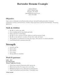 Bartender Resume Skills Template Mesmerizing Bartender Resume Skills Examples Of Resumes Resume Skills Examples