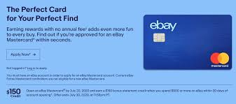 Ebay credit card offers exclusive rewards points to members, for every $1,000 spent on ebay get 5 extra points. Expired Ebay Mastercard 150 Cash Signup Bonus With 500 Spend On Ebay Doctor Of Credit