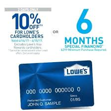 Lowes Commercial Credit Card Application Lowes 0 Financing For 18 Months There Are Factors Involved In The