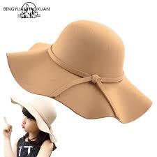 BINGYUANHAOXUAN <b>Women's 2018 Autumn</b> Fedora <b>Hat</b> Vintage ...
