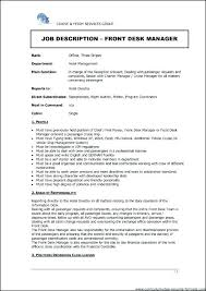 Front Desk Resume Sample Hotel Objective Manager Skills Duties ...