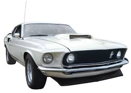Automobile, 1969 Mustang Boss 429. Wimbledon white with black ...