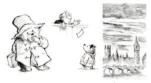 paddington bear line drawings