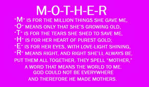 Mothers Day Inspirational Quotes Cool Mothers Day Quotes Poems