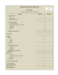 finance report templates financial report template