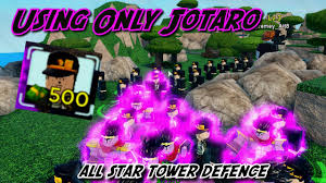 By using the new active roblox all star tower defense codes (also called all star td codes), you can get some various kinds of free gems which will help you to summon some new characters. Codes Using Only Jotaro Kujo In All Star Tower Defence Roblox Youtube