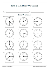 Math Telling Time Worksheets Kindergarten Free Library Hour Simple ...
