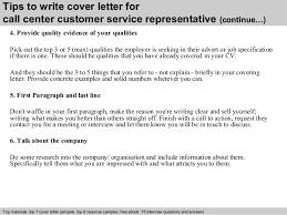 Cover Letter For Customer Service Representative Call Center Call Center Customer Service Representative Cover Letter