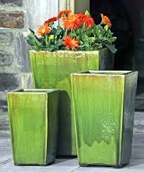 enthralling tall ceramic flower pots outdoor large glazed planter