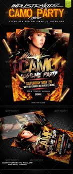 camo party flyer template com your template camopartypreview2