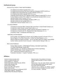 Sample Resume Licensed Professional Counselor Resume Exles Near