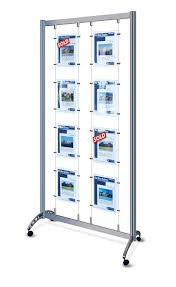 Photo Stands Displays Mobile Cable Display Stands 100x A100 Portrait Poster Pockets 2