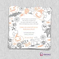 Party Invitations Templates Free Downloads Free PDF Download Halloween Party Invitation Template Wedding 20