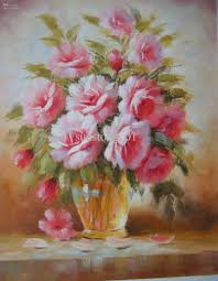 famous oil paintings of flowers great fresh pink flowers show