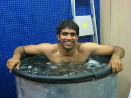 why cricketers take ice bath during the