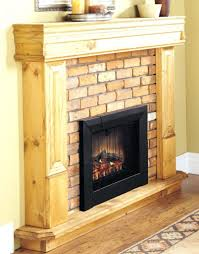 large image for alluring unpolished hickory wood fireplace mantel with black modern electric fireplaces built in