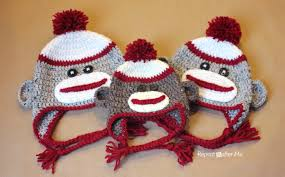 Sock Monkey Pattern Simple Crochet Sock Monkey Hat Pattern Repeat Crafter Me